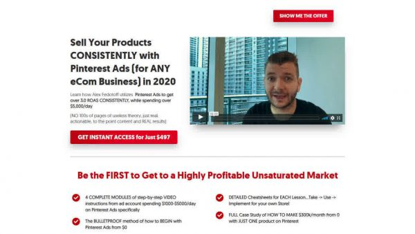 Alex Fedotoff - Pinterest Ads Blueprint 2020 1