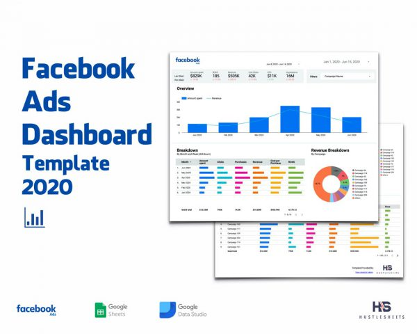 Facebook Ads Dashboard 2020 Template for Google Sheets and Google Data Studio 1