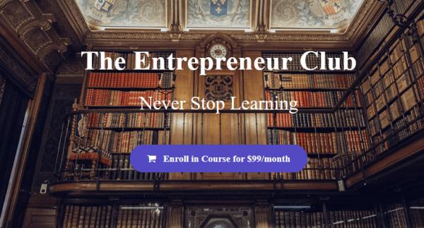 Sean Vosler - Entrepreneur Club + Bonus 1