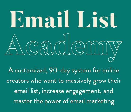 Melissa Griffin - Email List Academy 1